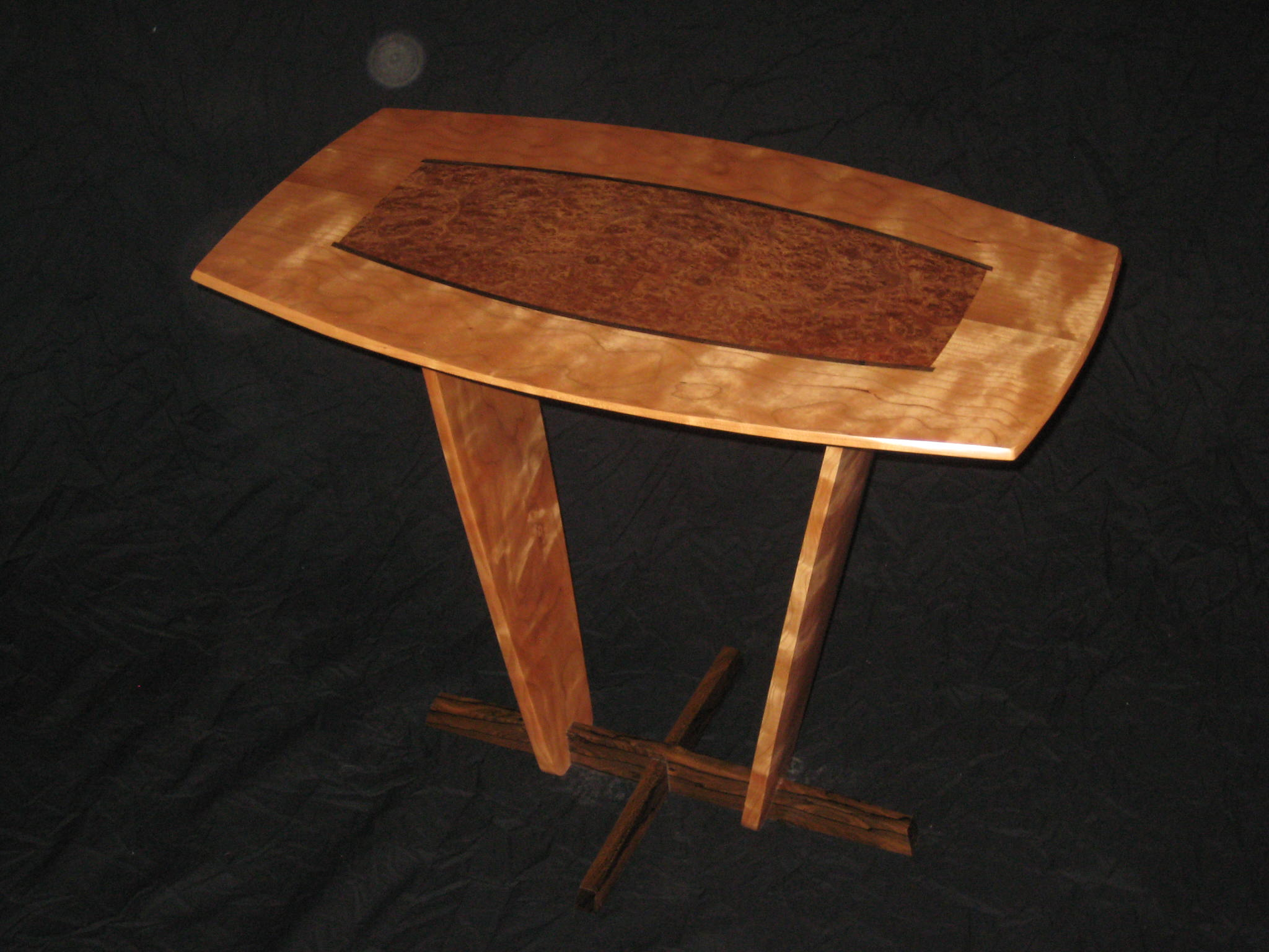 Cherry and Carpathian Elm Burl Table